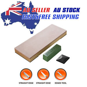 Leather Strop Knife Stropping Block with 53g Polishing Compound & Angle Guide