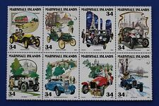 Marshall Islands (#788) 2001 Classic Cars MNH block of 8
