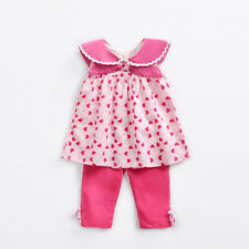 Fashion Heart Printed Baby Girls Suits - Red (XYG062668RD)