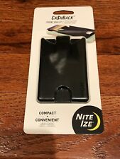 Nite Ize CashBack Phone Wallet, Black, New in Package