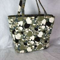 Everything Mary Tote Shopping Bag Handbag Shoppers Sewing Fabric Floral Green