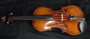 alte Geige Violine 4/4 Zettel 1915 Brandstempel old Violin Label spielfertig