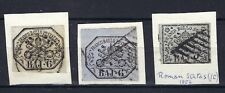 Roman States, Italy, Postage Stamp, #2, + 2x 6 Used, 1852. ON PIECE SEE SCANS.