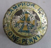 Vintage Retro Camphor Ice Tin - Signs of Use and Wear - Patina