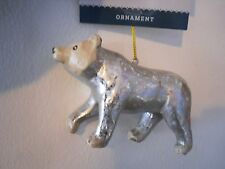 New ! Christmas Tree Oinament  Bear in silver color