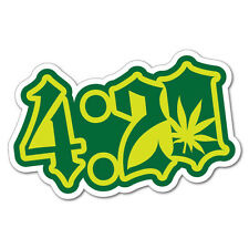4:20 Funny Grass Weed Sticker Decal Funny Vinyl Car Bumper