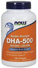 Now Foods, DHA-500, Doppelte Stärke, 180 Softgelkapseln, BESTPREIS !!!