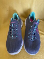 Skechers Summits Womens Ladies Blue Slip On Running Shoes Trainers Size 7