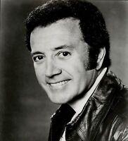 1977 Vintage SILVER GELATIN Photo wears leather jacket fashion actor Vic Damone