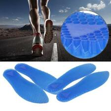 1 Pair Men's Silicone Insoles Pad Cushions Foot Feet Shoe Honeycomb Gel Impact