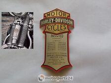Harley Davidson Emblem Medallion für Springer Gabel Cross Bones  66030