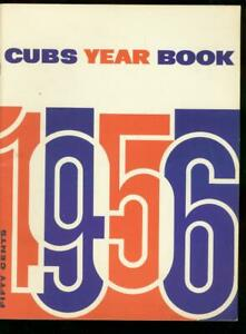 CHICAGO CUBS 1956 YEARBOOK-WRIGLEY FIELD-NL--BASEBALL FN/VF
