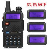 BaoFeng UV-5R TP ★8W★10km 2m/70cm UHF/VHF Mobil Radio Funkgerät Walkie Talkie