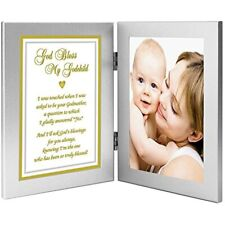 Baptism Godchild Gift From Godmother- Add 4x6 Inch Photo Baby