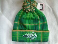 Reebok Face Off NHL Washington Capitals Pom Beanie Winter Hat NWT!!