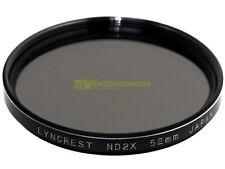 52mm. Filtro neutral density ND 2x Lyncrest