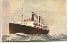 """Italy   SHIP POSTCARD   SITMA  """"Esperia""""  Circa 1920's."""