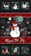 """Chalkboard Snowman"" Panel By Studio E-Share The Joy-Snowmen-Reindeer-Owls"