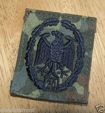 "BUNDESWEHR GERMAN ARMY ""Military Proficiency"" 20 YEAR REPEAT BADGE SUBDUED RARE"