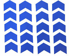 "Reflective Blue Chevrons Vinyl Stickers 2"" wide x 20 Hazards,Vans,Bikes,Trailers"