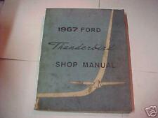 1967 ford thunderbird ORG shop manual