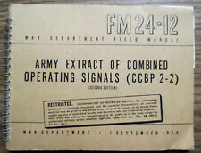 ARMY EXTRACT of COMBINED OPERATING SIGNALS (CCBP 2-2) FIELD MANUAL 1944 FM 24-12