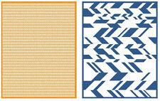 "Quickutz/Lifestyle Crafts EF0027 Chevron  2 Embossing Folders Size 4.25""x5.5"""