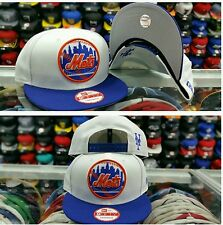 New Era MLB New York Mets circle logo white blue orange 9fifty snapback