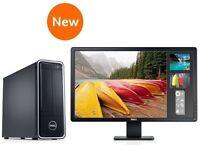 "NEW DELL INTEL i3-4130 3.40GHz 4GB 500GB WINDOWS 7 PRO + 24"" HD MONITOR + OFFICE"