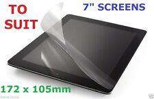 "7"" Universal Tablet eReader Screen Protector Film Guard Asus Lenovo Sony LG More"