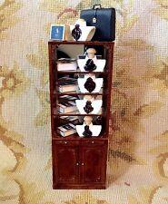 Bespaq/Pat Tyler Dollhouse Miniature Man Shop Mannequins Shelf Cabinet p304