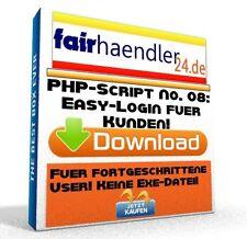 PHP-SCRIPT No. 08 Easy Login für Kunden Webmaster Software Kundenlogin E-Lizenz