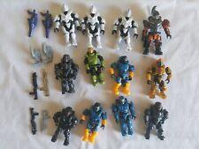 Mega Bloks HALO MINIFIGURES 12 Figures Weapons & Accessories spartan white