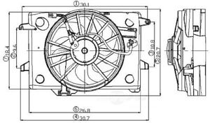 Engine Cooling Fan Assembly Global 2811525