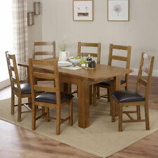 Unbranded Oak 7 Pieces Table & Chair Sets