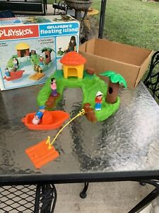 VINTAGE 1977 Playskool Gilligan's Island Bath Tub Play Set Complete In Box