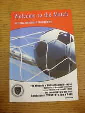 06/04/2014 Rhondda League U16 Cup Final: Cambrian And Clydach BGC A v Ton And Ge