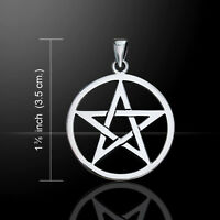 Witch diva pentacle pendant 925 sterling silver pentagram wicca pagan wicca pentagram pentacle 925 sterling silver pendant by peter stone aloadofball Images