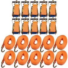 x10 10m 5 ton Trailer Car Transporter Recovery Ratchet Straps Fully Adjustable
