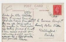 PC Edward Brayne, Police Station, Wallingford 1937 Postcard, B395