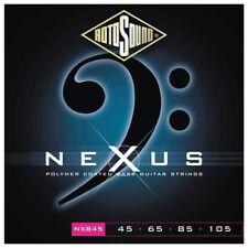 Rotosound NXB45 Nexus Black Polymer Coated 4-String Bass strings 45-105
