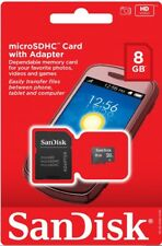 NEW SANDISK 8GB Class 4 MicroSD MicroSDHC SD SDHC TF FLASH MEMORY CARD ADAPTER
