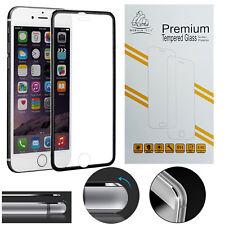 Metal Edge iPhone 8 Plus Black Gorilla Full LCD Protecteur d'écran en verre trempé