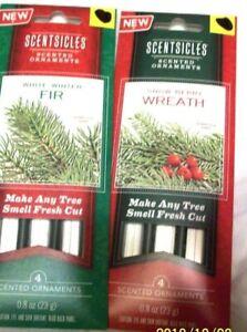 Scensicles scented ornament sticks set of 2 packs each pak has 4 air freshner