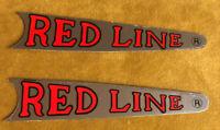 Vintage REDLINE DECALS/ Sticker  RED BMX