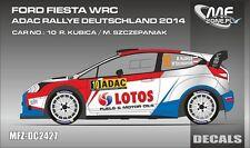 DECALS 1/24 FORD FIESTA WRC - #10 KUBICA - RALLYE ADAC ALLEMAGNE 2014 - DC2427
