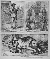 NEGRO VOTE KU KLUX DIGNITY AND IMPUDENCE THOMAS NAST DEMOCRATIC VOTERS GRANT