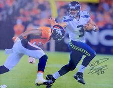 Russell Wilson Signed Seattle Seahawks 16x20 Photo JSA I31683