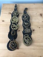 Various antique/vintage Horse Brasses/collectible Metal Horse Decor Collection