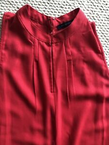 French Connection- Gorgeous Red Jumpsuit With Side Splits And Pockets - Size 12